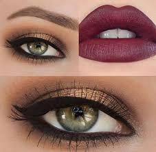 adver green eyes make up light brown hair
