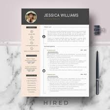 Modern Resume Template Free Templates For Word With Photo Download