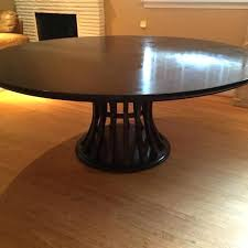 crate and barrel marble table best crate barrel ebony chestnut round dining table within and contemporary