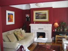 Wall Paint For Living Room White Ceiling Ixed Red Painted Room Wall Combined With White