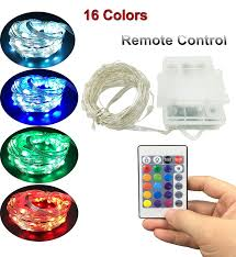 Outdoor Led String Lights With Remote Control Yksh Indoor Outdoor Led String Lights Battery Powered Led Fairy String Lights With Remote And Timer Waterproof Multi Color Changing Light For Patio