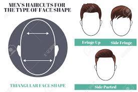三角形の面形 Os 男の髪型の種類図のイラスト素材ベクタ Image