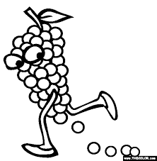 Small Picture Grapes Coloring Page Free Grapes Online Coloring