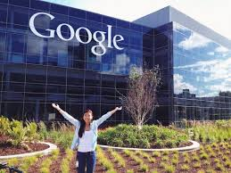 google office california. Fiona Yeung, York-Sheridan Design Student Outside Of The Google Office In California