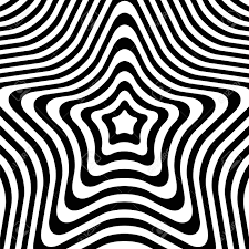 Optical Designs Abstract Design Optical Illusion Black Lines On White Background Vector