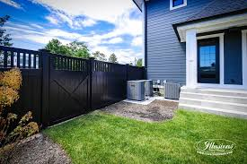 Black vinyl fence Picket Black Pvc Vinyl Privacy Fencing Panels From Illusions Vinyl Fence Are The Perfect Backyard Fence Idea Pmapinfo Black Pvc Vinyl Privacy Fencing Panels Illusions Vinyl Fence
