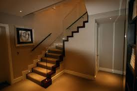 stairway lighting. led stair lighting mounted at foot level and can create very dramatic effects to dramaticoutdoor light stairway