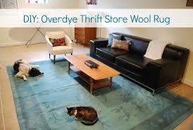 diy overdye wool rug