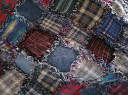 I made this rag quilt from old flannel shirts and jeans. It is an ... & I made this rag quilt from old flannel shirts and jeans. It is an over Adamdwight.com