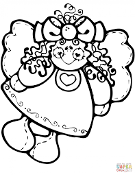 Small Picture Coloring Pages Christmas Angel Doll Coloring Page Free Printable