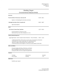 Cover Letter Resume Layout Job Experience For High School Student