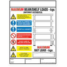 Weight Loading Chart Weight Load Notice For Pallet Racking Portrait 470mm X