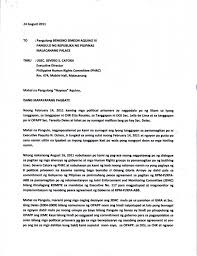 Business Letter Tagalog Example Resume Template Example