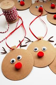 Rudolph Gift Tags - Easy Christmas Craft