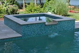 Wonderful Pool Designs With Spa Pools Spas Rectangular Glass Tile To Creativity Ideas