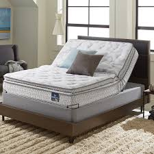 bed frame and mattress set. Serta Extravagant Plush Pillow Top Queen-size Mattress Set With Elite Pivot Adjustable Foundation Bed Frame And R
