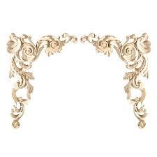 prev carved wood appliques decorative large corner pair