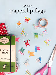make it diy paperclip flags