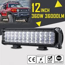 36 Led Light Bar Details About 12inch 360 W 36 Led Work Light Bar Spot Flood Combo Offroad Pickup Van Atv