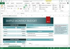 Monthly Budgets Spreadsheets Free Monthly Budget Template For Excel 2013