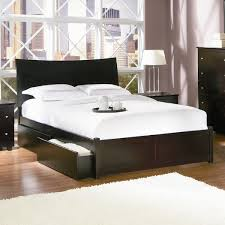 modern bed frame with storage.  Frame A Modern Sleighstyle Curved Headboard With A Dark Finish And Two Storage  Drawers For Modern Bed Frame With Storage