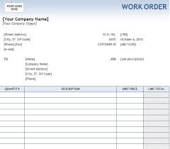 Work Order Sample Form Work Order Forms Templates Corollyfelineco