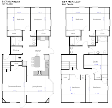 small rectangular house plan design featuring bedrooms second 2 bedroom plans two story