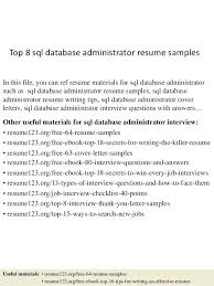sql server dba resume server resume database administrator simple resume  format sql server dba resume with