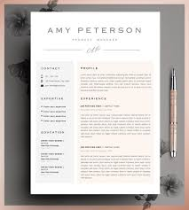 Etsy Resume Template Cool Professional CV Curriculum Vitae 60 Page Resume Simple Resume CV