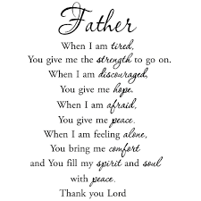 Vwaq Father When I Am Tired Faith Quotes Wall Decals