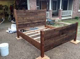 old pallet furniture. Recycled Pallet Queen Size Bed Furniture Old 0