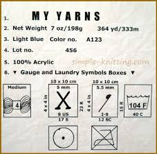 Knitting Stitches Per Inch Chart How To Read Yarn Labels Easy Knitting Lesson