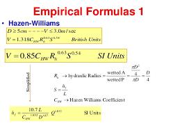 Hazen Williams Formula Pipe Flow Chart Hydro Chapter_3 By Louy Al Hami