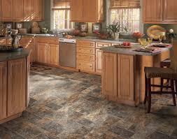 Kitchen Floor Vinyl Tile Interior Rustic Living Room Design With Oak Wood Cabinet And