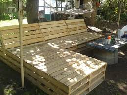 wood pallet outdoor furniture. Brilliant Pallet Pallet Patio Sectional  You Can See Some Empty Spacing Between The Pallets  If You Make It  To Wood Outdoor Furniture O