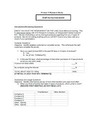 Sample Questionnaire Format For Survey Questionnaire Template For Research Atlasapp Co