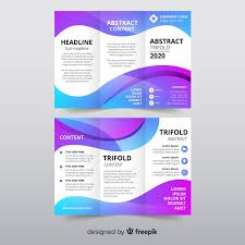Trifold Template Abstract Trifold Brochure Template Vector Free Download