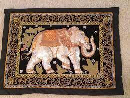 lucky elephant tapestry wall hanging