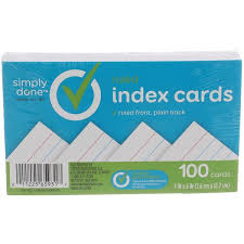 Index Card 3x5 Simply Done 3x5 Index Cards Ruled Front Plain Back Hy Vee