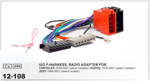 popular jeep wire harness buy cheap jeep wire harness lots from car iso stereo adapter connector for chrysler 2001 onwards jeep 2002 onwards wiring harness auto radio