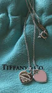 return to tiffany pink enamel double heart necklace tiffany and co 1726602159
