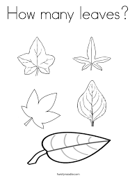 Small Picture How many leaves Coloring Page Twisty Noodle