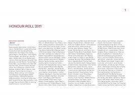 Honour roll 2011 >$50.00