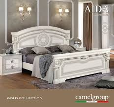 Silver Furniture Bedroom Aida White W Silver Camelgroup Italy Classic Bedrooms Bedroom