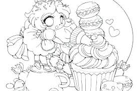 Cute Anime Girl Coloring Pages Picture Of A Girl To Color Anime Cat