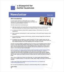 Newsletter Format Examples 10 Business Newsletter Templates Free Sample Example