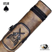 outlaw oval 1x1 s pool cue case