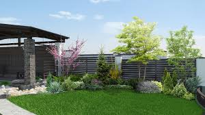 Corner Lot Fence Design Contemporary Corner Lot Landscaping Idea House Of Fence