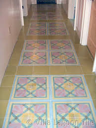 floor tiles design. Custom Cement Tile Hallway Floor Tiles Design