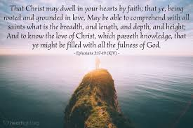 Image result for Ephesians 3: 17-19